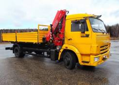 Fassi F110A active. КМУ Камаз 4308-3063-28 + КМУ Fassi F110A.0.22 + борт сталь 5.6м., 5 280кг., 4x2