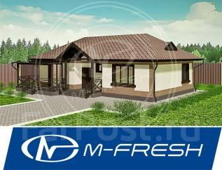 M-fresh Fit Terrace! (Доработанный готовый проект с террасой! ). 100-200 кв. м., 1 этаж, 3 комнаты, бетон