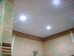Потолки реечные установка. Укладка ламината, кафеля, линолиума.