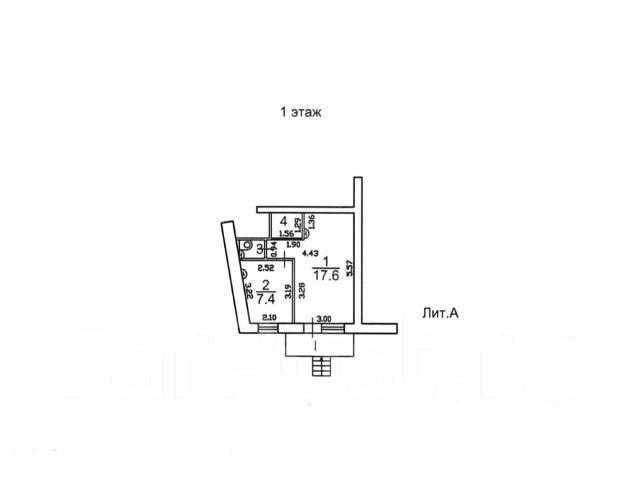 Продам нежилое помещение на Второй речке 28 метров с отдельным входом. Улица Чапаева 24, р-н Вторая речка, 28кв.м. План помещения