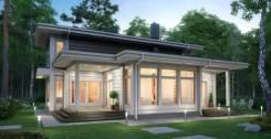 """Проект дома """"Агат"""". Клееный брус. 100-200 кв. м., 2 этажа, 5 комнат, дерево"""