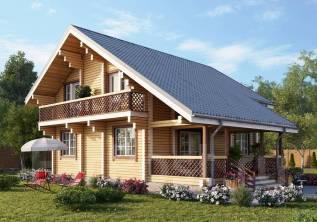 Проект двухэтажного дома площадью 133,9 м2. 100-200 кв. м., 2 этажа