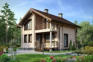 Проект двух этажного дома площадью 153,7м2. 100-200 кв. м., 2 этажа