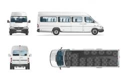 Ford Transit Shuttle Bus. «Mercedes-Benz» Sprinter или 2,2L, 23 места