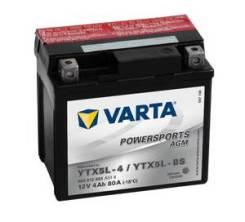 Аккумуляторная батарея! евро 4Ah 80A 114/71/106 YTX5L-BS POWERSPORTS AGM moto\ 504012003_