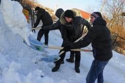 Уборка снега и льда Вручную. Грузчики, Разнорабочие