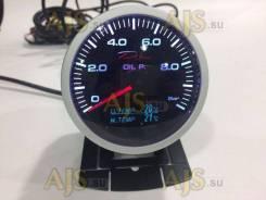 Датчик DEPO 60mm 4в1 черный давление масла, температура воды и масла, в