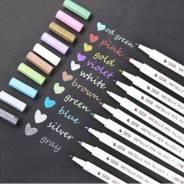 10 маркеров стального цвета.