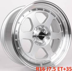 Work Emotion CR-KAI. 7.5x16, 4x100.00, 4x114.30, ET35, ЦО 73,1 мм.