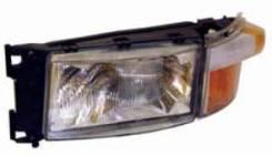 Фара ! (E4) левая прямоуг. с указателем поворота лампа H4 Scania 94/114/124/144/164 198 103 110ERM_ ERMAX 198103110