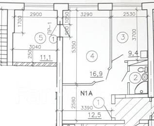 2-комнатная, улица Индустриальная 4б. Лазовый, частное лицо, 53кв.м.