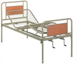 Кровать медицинская для реабилитации (три секции, металлическая)