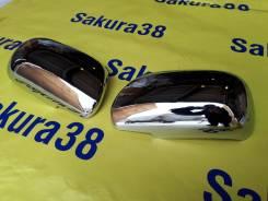 Накладка на зеркало. Toyota: Probox, Wish, Corolla Fielder, Corolla, Avensis, Vitz Двигатели: 1NDTV, 1NZFE, 1NZFNE, 2NZFE, 1ZZFE, 1AZFSE, 2ZRFE, 2ZRFA...