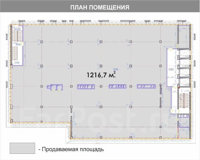 Продаётся этаж в центре города – первая линия во Владивостоке. Улица Светланская 90, р-н Центр, 1 217кв.м. План помещения