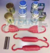 Ремонтный комплект тормозной колодки (РКТ) осей FUWA D20-050101 RK. Atlant LBH1040 Atlant SWH1235 Cimc THT9758TD Cimc ZJV9406GYDY