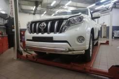Бампер Toyota Land Cruiser Prado 150 2013+ черный белый серебро