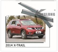 Дефлекторы и ветровики. Nissan X-Trail, HNT32, HT32, NT32, T32 Двигатели: MR20DD, QR25DE, R9M