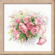 Набор для вышивания Акварельные розы, пакет.