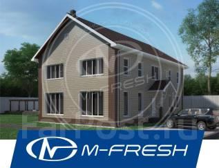M-fresh TeremOK! (М-фреш ТеремОК! Проект большого теремка с верандой! ). 300-400 кв. м., 2 этажа, 6 комнат, бетон
