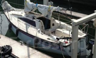 Яхта 7 метров с мотором 9.9 yamaha. Длина 7,00м., 1998 год год