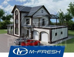 M-fresh Fazenda Garage! -зеркальный (Готовый проект дома с гаражом). 300-400 кв. м., 2 этажа, 7 комнат, бетон