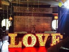 Объемные световые буквы «LOVE»