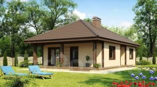 Проект стильного одноэтажного дома в классическом стиле!. 200-300 кв. м., 1 этаж, бетон