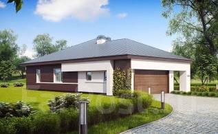 Удобный одноэтажный дом с гаражом для двух автомобилей. 200-300 кв. м., 1 этаж, бетон