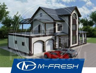 M-fresh Fazenda Garage! (Проект красивого коттеджа с большим гаражом! ). 300-400 кв. м., 2 этажа, 7 комнат, бетон