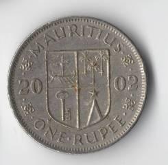 1 рупия 2002г. Маврикий