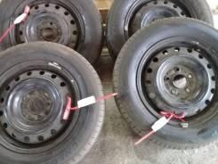 "Продам летние колеса 195/65-15 Dunlop Inasave на штампах 5х114,3. 5.0x15"" 5x114.30 ET40 ЦО 65,0мм."