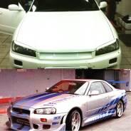 Накладка на фару. Nissan Skyline GT-R, BNR34 Nissan Skyline, BNR34, ENR34, ER34 Двигатели: RB26DETT, RB25DE, RB25DET