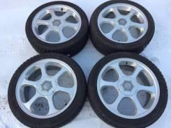 Krait R17 ET48 7J 5x100 5x114.3 + Dunlop DSX-2 215/45R17. 7.0x17 5x100.00, 5x114.30 ET48