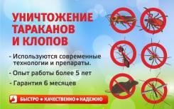 Уничтожение тараканов и клопов.