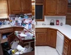 Уборка на кухне генеральная 250 руб. /кв. м