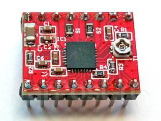 Драйвер шагового двигателя A4988 для ЧПУ станка или 3D принтера