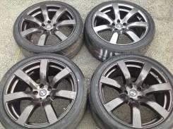 """Кованные диски от Ниссан GT-R тёмные + шины слики. 9.5/10.5x20"""" 5x114.30 ET45/25. Под заказ из Владивостока"""