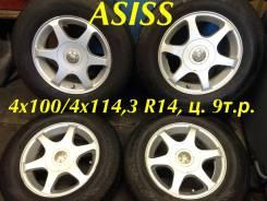Asiss. 6.0x14, 4x100.00, 4x114.30, ET38