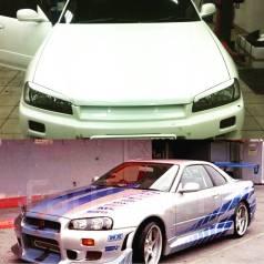 Накладка на фару. Nissan Skyline GT-R, BNR34 Nissan Skyline, BNR34, CPV35, ENR34, ER34, HR34, HV35, NV35, PV35, V35 Двигатели: RB26DETT, RB20DE, RB20D...