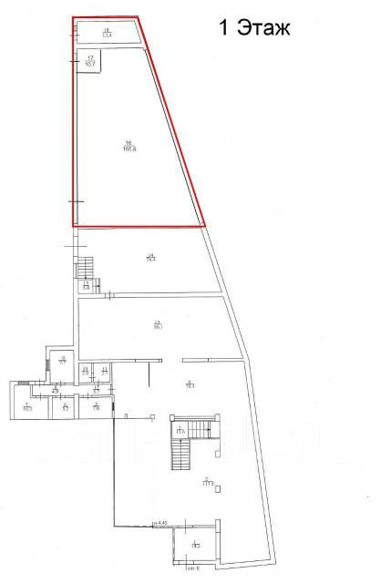 Сдаются в аренду торговые и складские помещения возле автовокзала. 450кв.м., проспект Находкинский 5д, р-н центр. План помещения