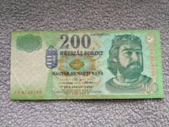 Нечастая банкнота 200 Форинтов 2002 года Венгрия