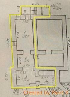 Нежилое помещение на первой линии. Улица Светланская 145, р-н Центр, 47кв.м. План помещения