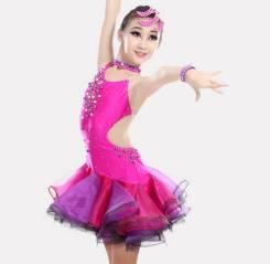 Платья для бальных танцев. Рост: 122-128, 128-134, 134-140, 140-146, 146-152, 152-158, 158-164, 164-170 см. Под заказ