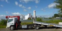 Mitsubishi Canter. Продается грузовик-эвакуатор со сдвижной платформой и гидроманипулятор, 4 900куб. см., 4 000кг.