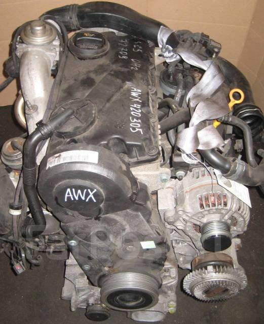 Контрактный двигатель Skoda Superb VW Passat 1.9 TDI AWX AVF