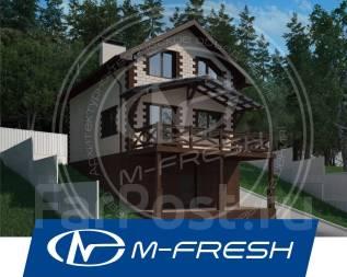 M-fresh Robinson-зеркальный (Простая двускатная крыша, труба от сауны). 100-200 кв. м., 2 этажа, 3 комнаты, бетон