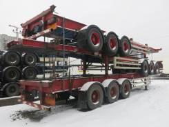 Dennison. Полуприцеп контейнеровоз высокий, 2003, 34 300 кг.