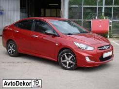 Накладка на порог. Hyundai Solaris, RB Двигатели: G4FA, G4FC