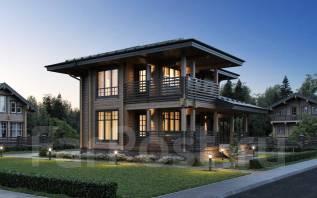 """Проект дома """"Южный"""" Клееный брус. 100-200 кв. м., 2 этажа, 4 комнаты, дерево"""
