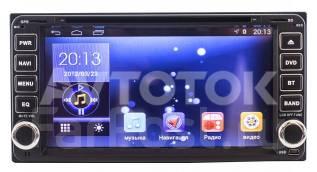 Штатная магнитола Toyota универсальная 2DIN (200x100мм) Android 4.4.4